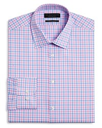 Bloomingdale's The Men's Store At Chevron Check Regular Fit Dress Shirt 100 Exclusive Pink