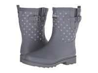 Chooka Flash Dot Mid Rain Boot Charcoal Women's Rain Boots Gray