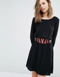 Baandsh Elton Dress With Detachable Belt Black