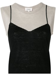 Isa Arfen Embroidered Sleeveless Sweater Nude And Neutrals