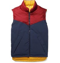 Burberry Reversible Canvas And Quilted Shell Down Gilet Yellow