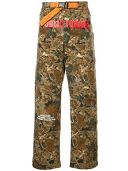 Heron Preston Camouflage Hiking Pants Green