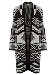 Oasis The Sofia Cardigan Black And White