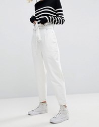 Asos White Paper Bag Jean In White White