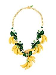 Dolce And Gabbana Banana Necklace Green