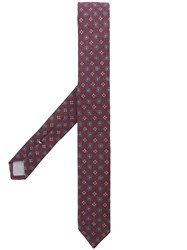 Eleventy Floral Jacquard Embroidery Tie Red