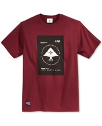 Lrg Men's Graphic Print T Shirt Deepmaroon
