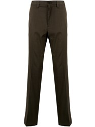 Kent And Curwen Straight Leg Trousers Green