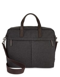 Fossil Classic Leather Briefcase Black