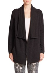 Tart Bain Open Front Merino Wool Coat Black Oatmeal