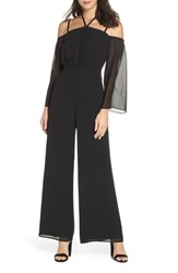 Ali And Jay Never Waking Up Cold Shoulder Jumpsuit Black