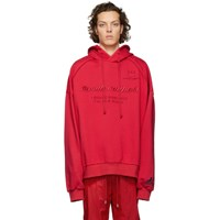 Juun.J Red Embroidered Hoodie