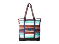 Kavu Wedgewood Tote Earth Stripe Tote Handbags Multi