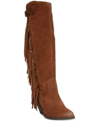 Carlos By Carlos Santana Lever Fringe Tall Boots Women's Shoes Mustang