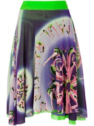 Jean Paul Gaultier Vintage Asymmetric Printed Skirt Multicolour