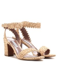 Tabitha Simmons Leticia Natural Cork Sandals Brown