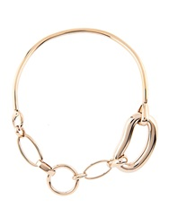 Balenciaga Oval Chain Link Brass Necklace