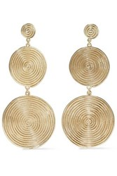 Elizabeth And James Gold Tone Earrings Gold