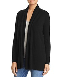 Bloomingdale's C By Open Front Cashmere Cardigan Black