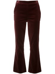 Frame Denim Cropped Flared Trousers