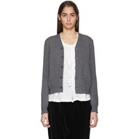 Comme Des Garcons Grey Wool Jersey Cardigan