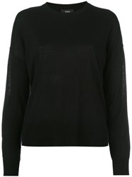 Theory Drop Shoulder Jumper Black
