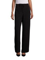 Max Mara Satin Acetate Lounge Pants Black