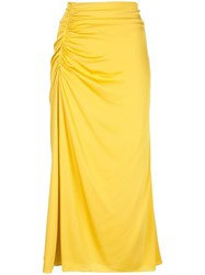 Theory Ruched Style Skirt Yellow