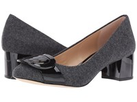Michael Michael Kors Pauline Mid Pump Charcoal Flannel Patent Women's Shoes Pewter