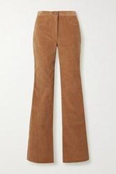 Adam By Adam Lippes Stretch Cotton Corduroy Flared Pants Camel