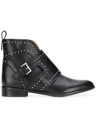 Emporio Armani Studded Ankle Boots Black