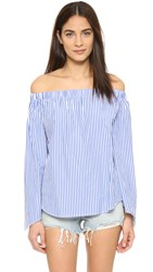 Finders Keepers Bright Lights Stripe Top Blue Stripe