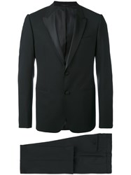 Armani Collezioni Classic Dinner Suit Men Silk Polyester Spandex Elastane Virgin Wool 56 Black