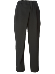 Elizabeth And James Cropped Loose Fit Trousers Black
