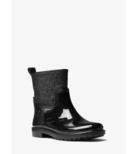 Blakeley Embossed Leather And Rubber Rain Boot