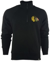 '47 Brand Men's Chicago Blackhawks Cross Check Quarter Zip Pullover