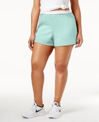 Soffe Curves Plus Size Active Shorts Crystal Green