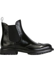 Church's Slip On Ankle Boots With Brogue Detailing Black