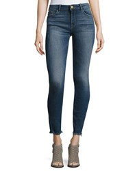 Dl Florence Instasculpt Cropped Skinny Jeans With Raw Hem Nugget Indigo