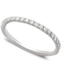 Macy's Pave Diamond Band Ring In 14K White Gold 1 4 Ct. T.W.