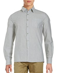 Kenneth Cole Heathered Cotton Shirt Heather Grey