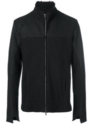 Lost And Found Ria Dunn Panelled Zip Coat Men Cotton Polyamide Acetate Wool L Black