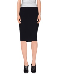 Elie Tahari Knee Length Skirts Dark Blue