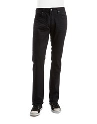 Buffalo David Bitton Six X Slim Straight Colored Jeans Black