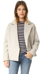 Madewell Avenue Cocoon Short Wool Coat Stone