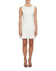 1.State Sleeveless A Line Dress White