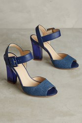Anthropologie Klub Nico Milicente Heels Denim Dark