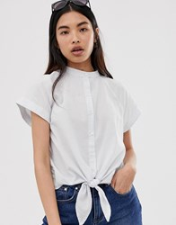 Selected Femme Boxy Chambray Tie Front Shirt Multi