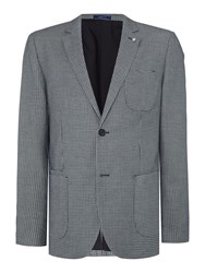 Peter Werth Exhibit Patch Pocket Textured Blazer Navy