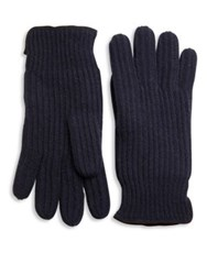 Portolano Ribbed Cashmere Gloves Navy Chocolate Black Grey Black